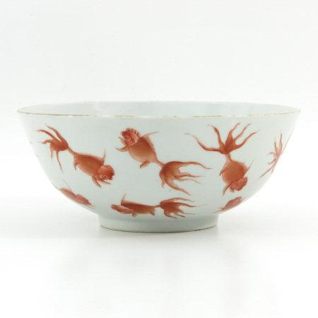 An Orange Goldfish Decor Bowl