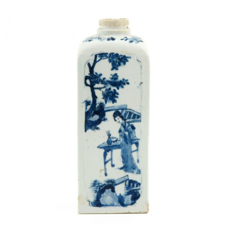 A Blue and White Gin Bottle