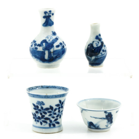 A Collection of 4 Chinese Miniatures