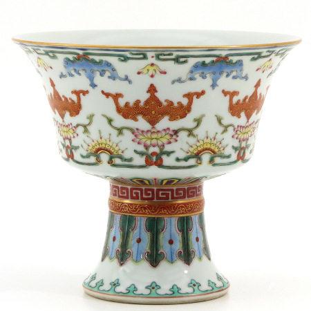 A Polychrome Decor Stem Cup