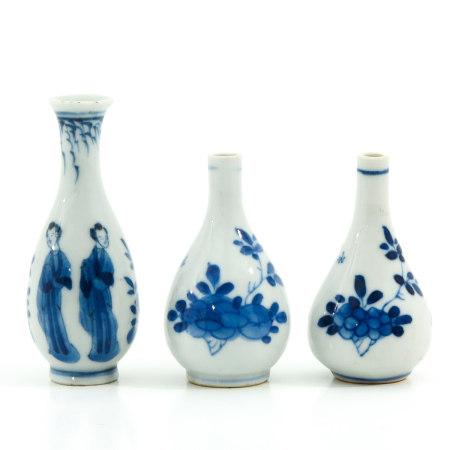 A Set of 3 Miniature Vases