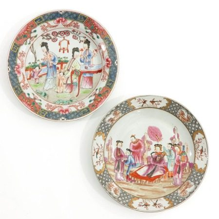 A Lot of Two Polychrome  Plates