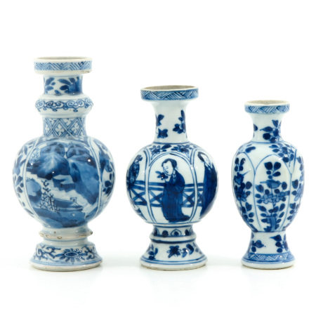 A Collection of 3 Miniature Vases
