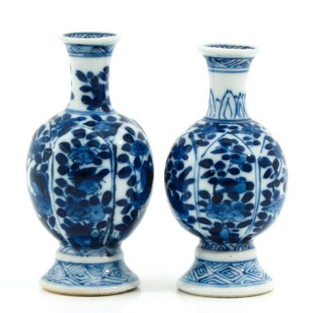 A Pair of Miniature Vases
