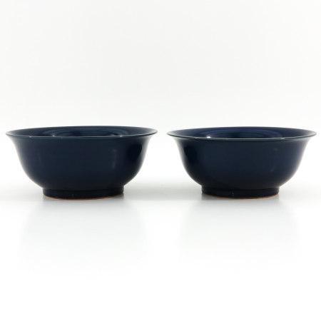 A Pair of Monochrome Bowls