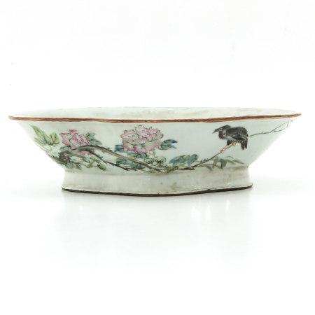 A Qianjiang Cai Decor Altar Dish