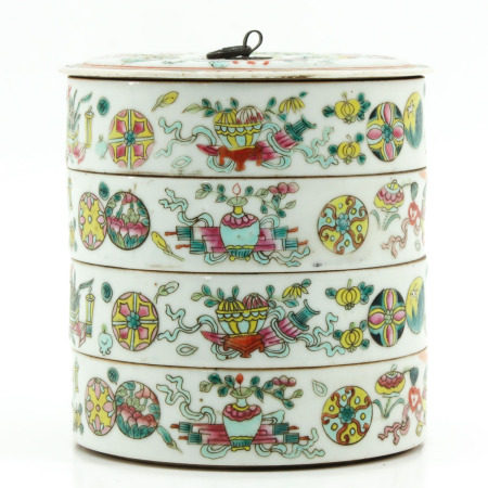 A Famille Rose Stacking Food Container