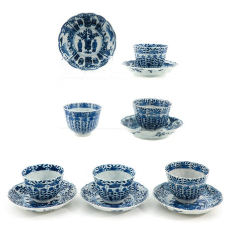 A Collection of 6 Cups and Saucers