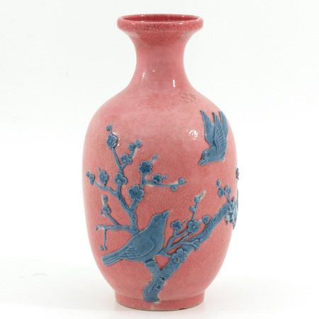A PInk and Blue Decor Vase