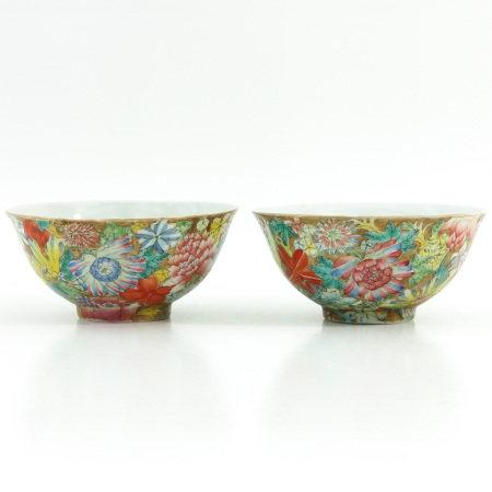 A Pair of Mille Fleur Bowls