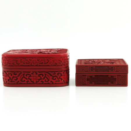 Two Cinnabar Boxes