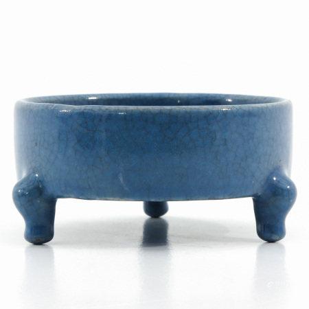 A Blue Glaze Tripod Censer