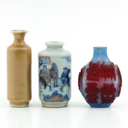 A Set of 3 Snuff Bottles