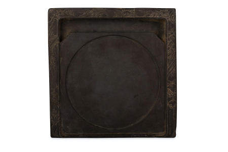 A CHINESE SQUARE INK STONE.