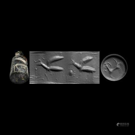 Western Asiatic Stamp Seal with Winged Beasts