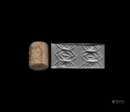 Western Asiatic Jemdet Nasr Type Cylinder Seal with Crabs