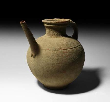 Western Asiatic Luristan Jar with Animal Handle