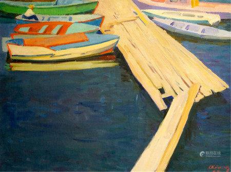 ATAYAN ARMEN ARSHAKOVICH Oil painting Ferry boats