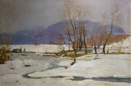KASHSHAY ANTON MIKHAILOVICH Oil painting Gray day