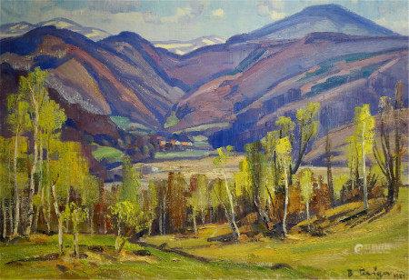GABDA VASILY GEORGIEVICH Oil painting Mountain landscape