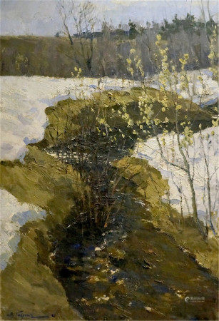 GAVRILOV VN Oil painting The arrival of winter