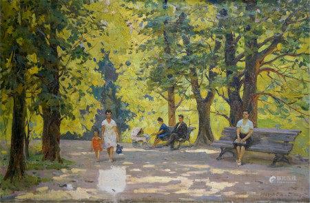 BEDNOSHEY DANIIL PANTELEYEVICH Oil painting A park