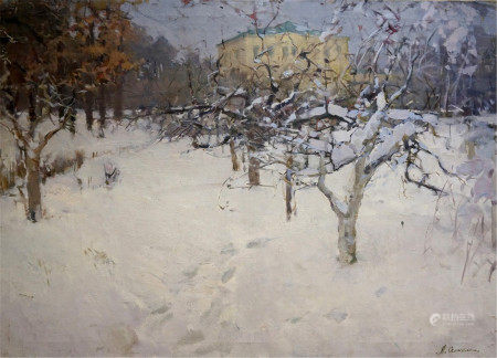 SEMYKINA LYUDMILA NIKOLAEVNA Oil painting Winter landscape
