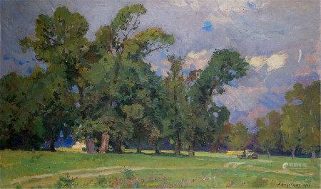 KHODCHENKO LEV PAVLOVICH Oil painting Before the storm