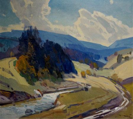 KASHSHAY ANTON MIKHAILOVICH Oil painting Mountain plains