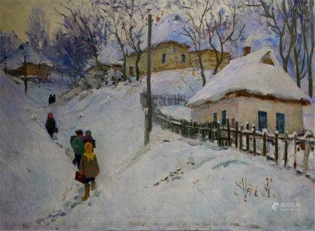 PRISHEDKO GRIGORIY DMITRIYEVICH Oil painting Winter