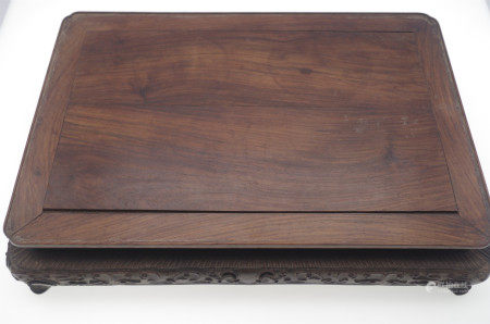 CHINESE HARDWOOD HUANGHUALI SCHOLAR TABLE TRAY