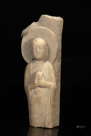北齐弟子石雕 Stone Carved in child form from Northern Qi
