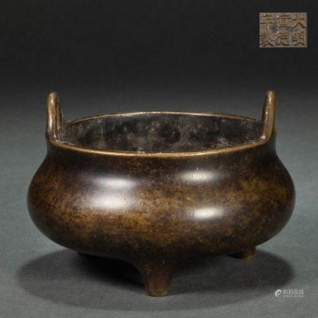 明代宣德炉 Copper Censer in XuanDe Style from Ming
