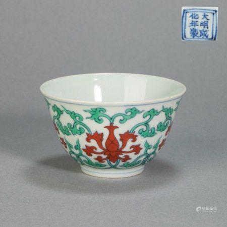明代成化斗彩杯 ChengHua Colored Cup from Ming