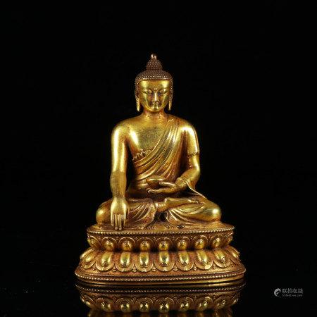 Bronze Gilt Seated Medicine Buddha