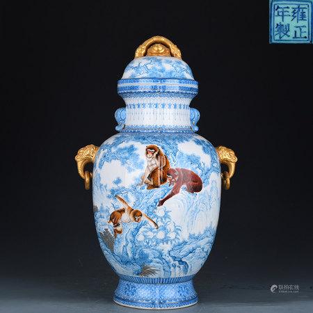 Falangcai Zun Vase Yongzheng Style
