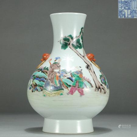Famille Verte Figural Vase