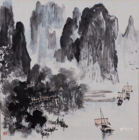 叶向慈 桂林山水