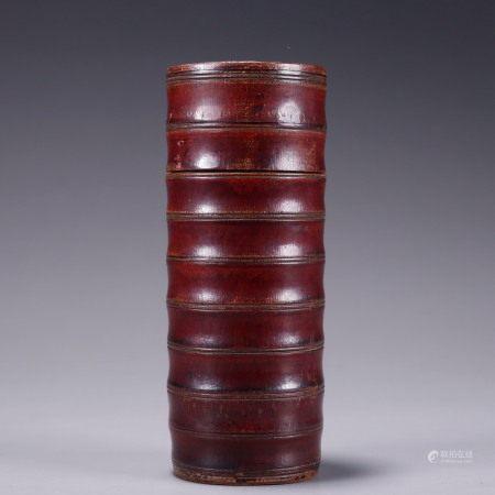 竹弦纹茶叶罐