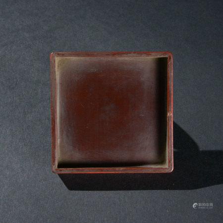 大漆藤編四方香盒