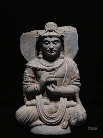 AN ASIAN STYLE VINTAGE BUDDHA STONE STATUE