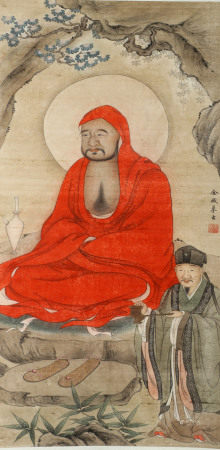 A VERTICAL HANGING PAINTING SCROLL