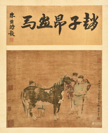 ZHAO MENGFU: INK AND COLOR ON SILK PAINTING 'HORSE'