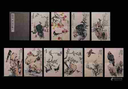 SUN QIFENG: INK AND COLOR ON PAPER 'BIRDS' BOOKLET