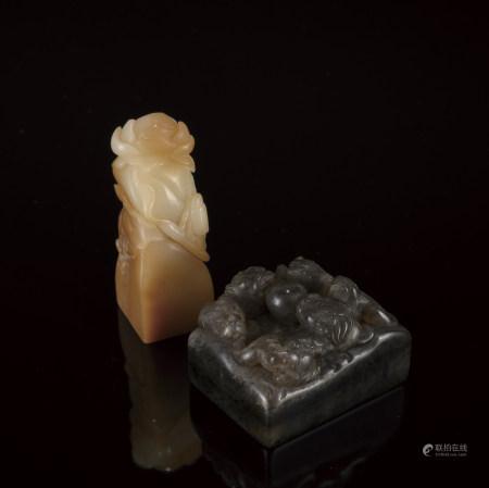 壽山芙蓉石高山凍印2方
