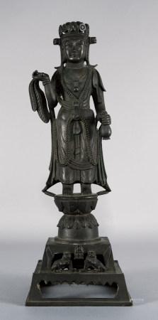 唐 菩薩銅立像