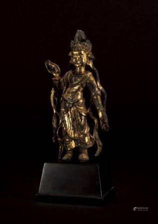 唐 銅鎏金菩薩