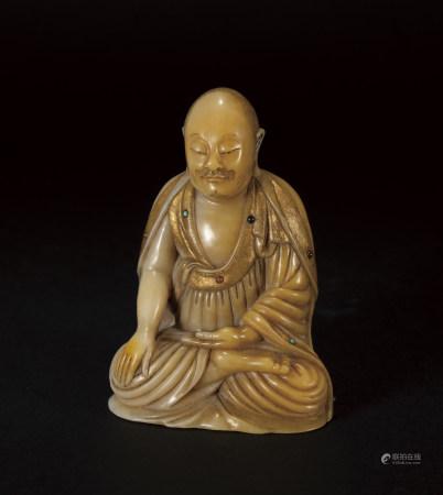 清 壽山石羅漢像