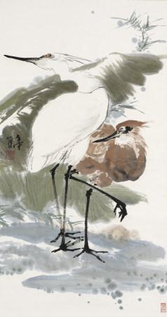 陳世中 雙鷺