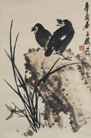1981年作 劉玉樓 花鳥